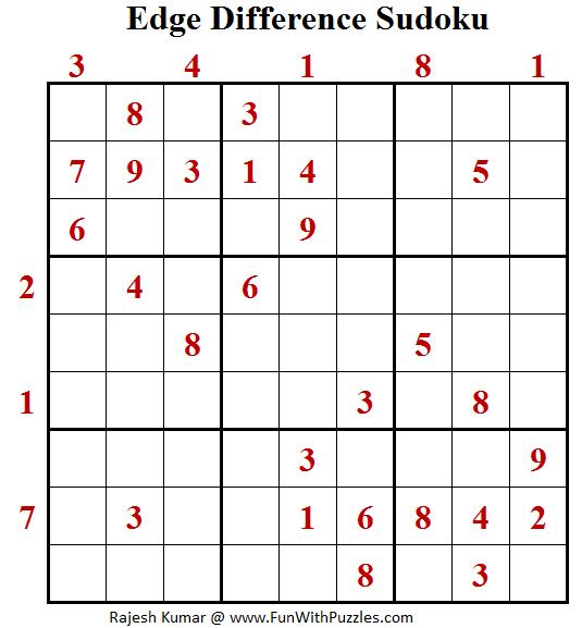 Edge Difference Sudoku  (Fun With Sudoku #123)