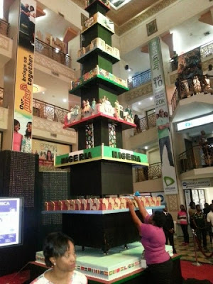 Tallest Cake In Africa Standing Tall: Proud To Be Nigerian