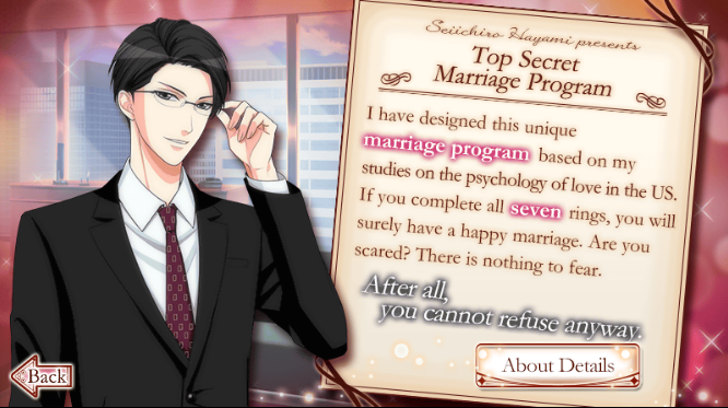 Otome Otaku Girl My Wedding and 7 Rings Secret Program