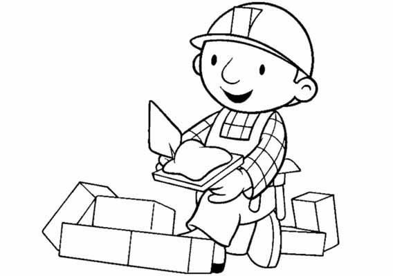 Bob The Builder Coloring Pages Learn To Coloring Bob The Builder Coloring Page