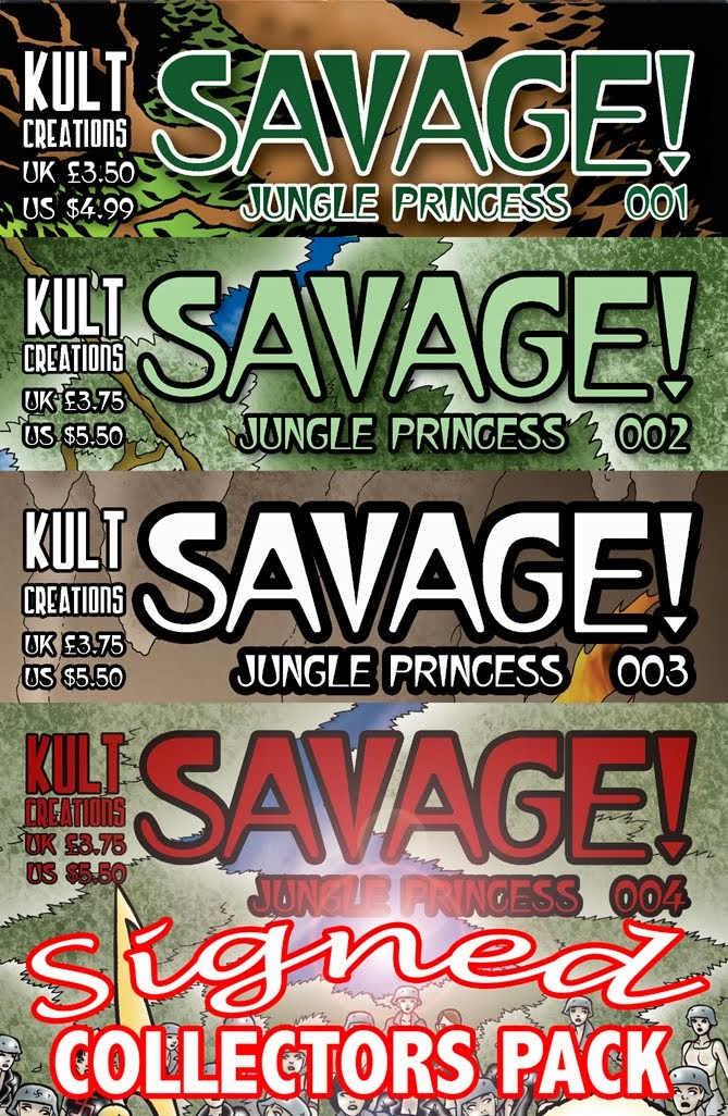BUY Savage! Jungle Princess SIGNED BY THE CREATORS 4 issue collectors set BELOW!