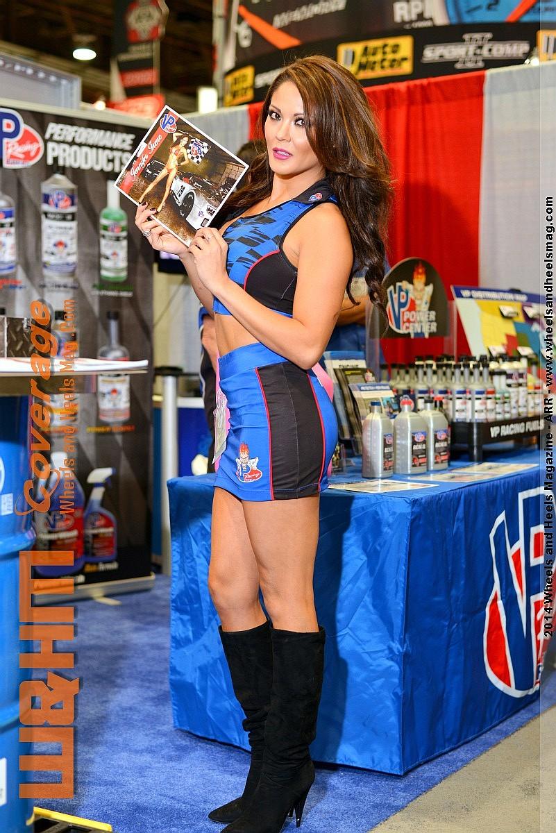 Jennifer Irene Gonzalez for VP Racing Fuels at 2014 SEMA