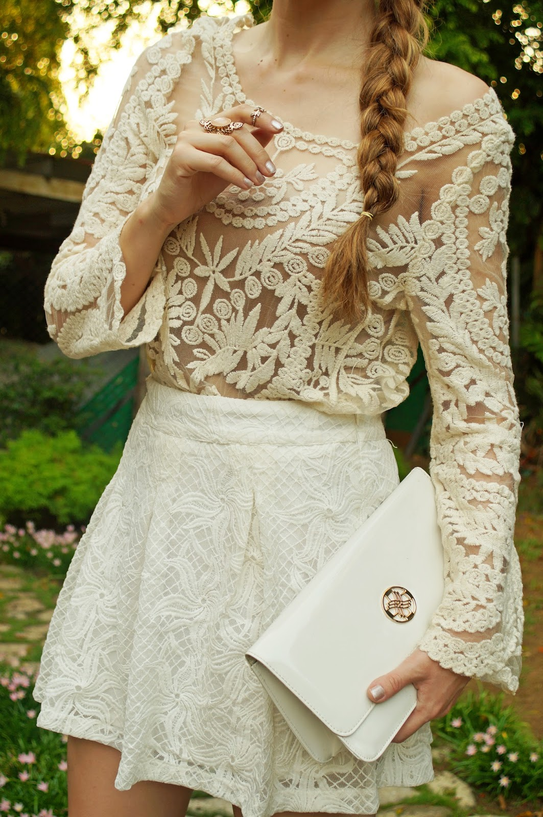 White Lace Outfit