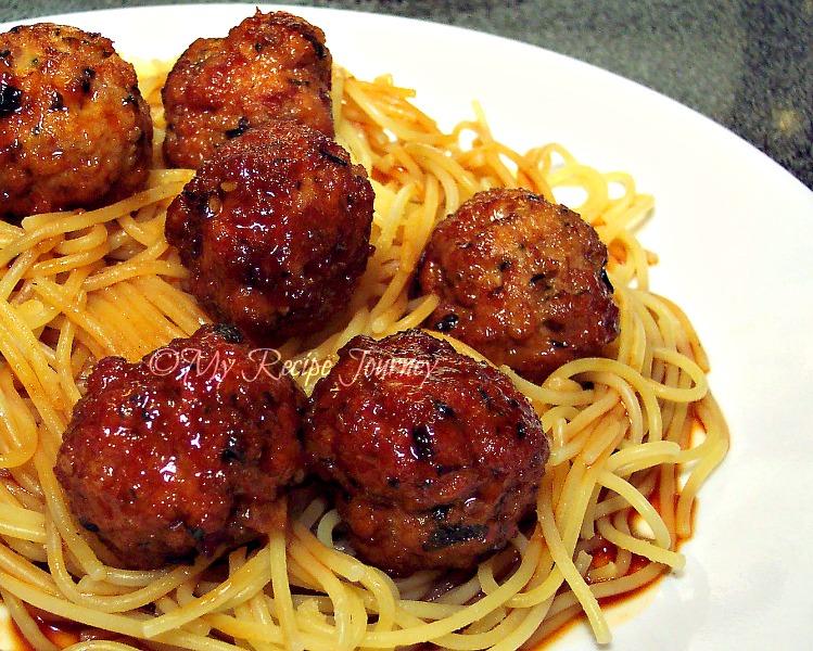 asian spaghetti and meatballs makes 24 small meatballs meatball ...