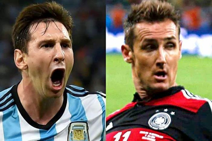 Messi Vs Klose 2014 world cup final match preview