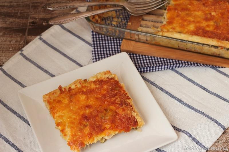 Tarta de calabacín,berenjenas y pollo