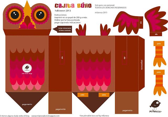 free printable box owl milanesa