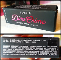 Nabla Cosmetics - Diva Crime Lipsticks - Recensione e swatches