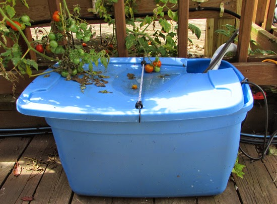 Holding tank for Hydroponics system