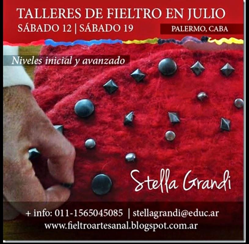 TALLERES DE FIELTRO EN PALERMO DE UNA JORNADA MES DE JULIO