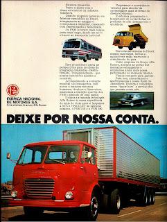 propaganda FNM - 1972; 1972; brazilian advertising cars in the 70s; os anos 70; história da década de 70; Brazil in the 70s; propaganda carros anos 70; Oswaldo Hernandez;