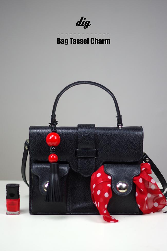 DIY Bag Tassel Charm {via www.fashionrolla.com}