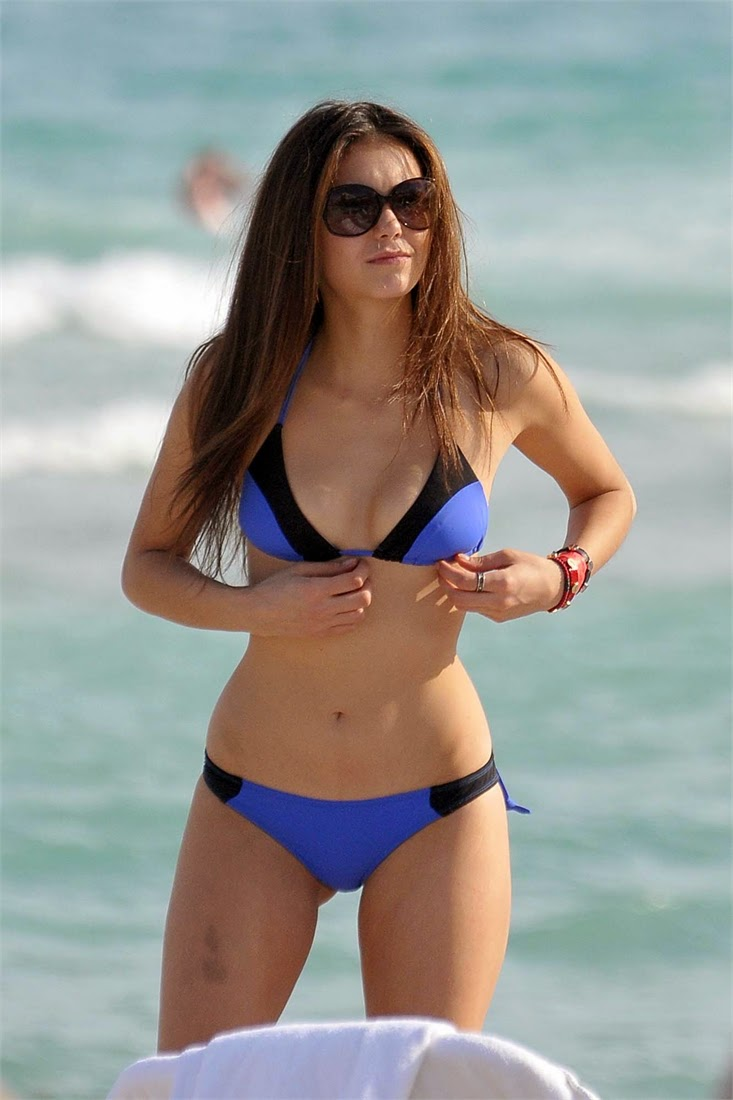 Nina Dobrev Bikini Candids at Miami's South Beach photo 1