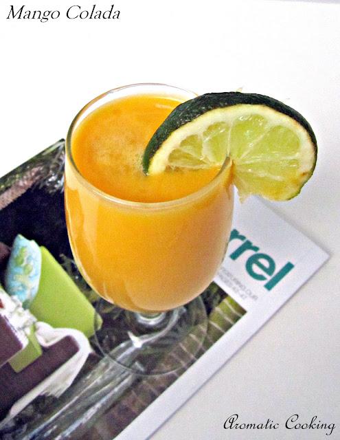 Aromatic Cooking: Mango Colada (Mango Drink With Coconut Milk)