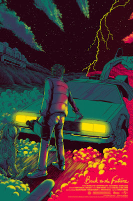 Back to the Future Standard Edition Screen Print by James Flames & Mondo