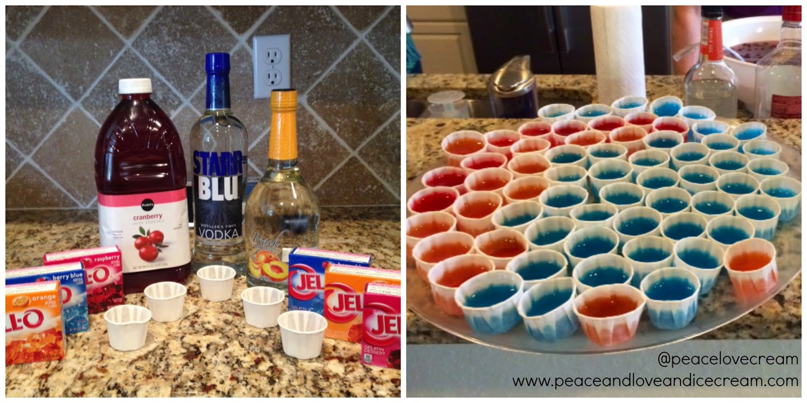 I made awesome jello shots for our awesome 80s bash!