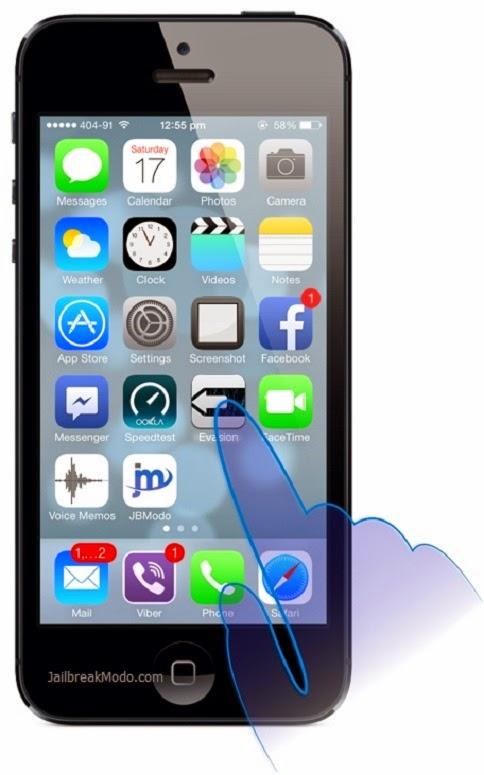 Evasi0n jailbreak iOS 7 cara