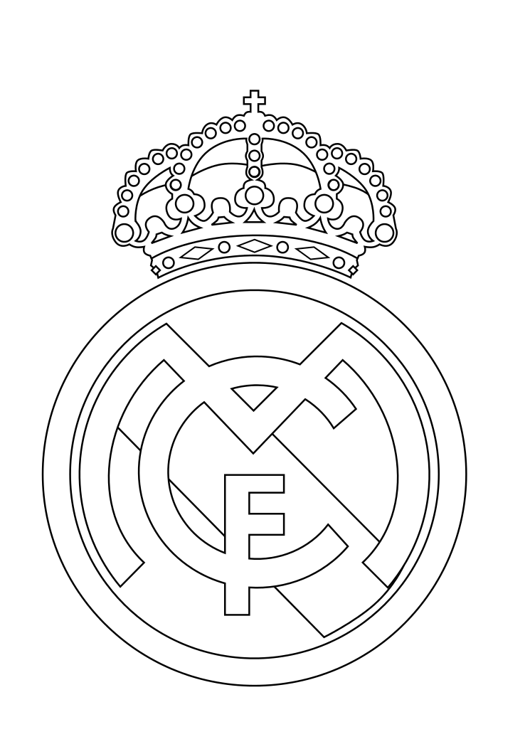 real madrid logo coloring pages - tartas para ni os real madrid