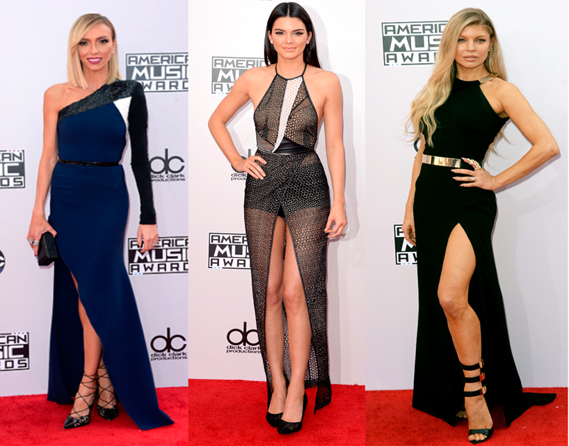 look, American Music Awards, 2014, vestido, fenda
