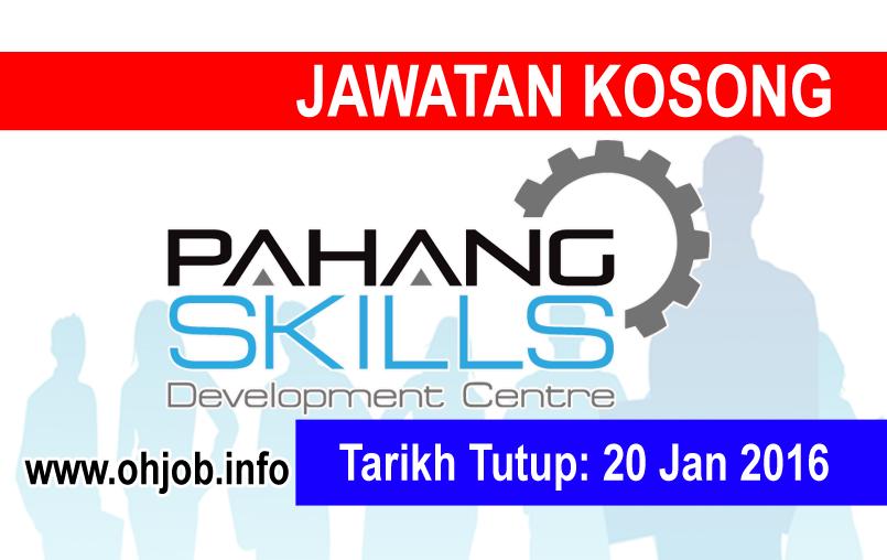 Jawatan Kerja Kosong Pusat Pembangunan Kemahiran Pahang (PSDC) logo www.ohjob.info januari 2016