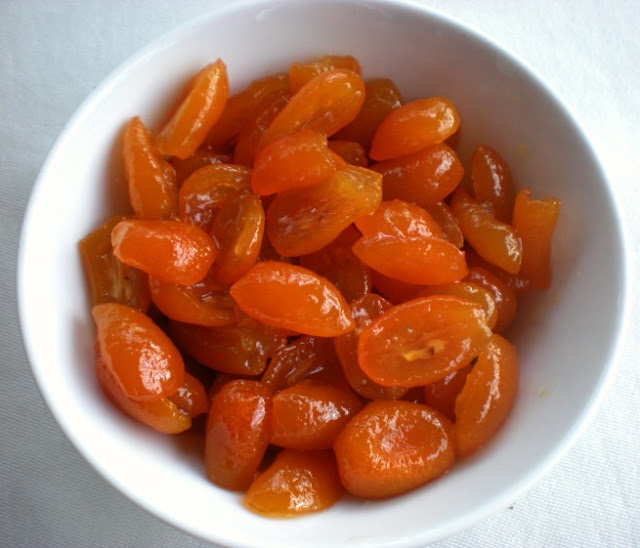 Candied kumquats. Lucy Mercer/A Cook and Her Books