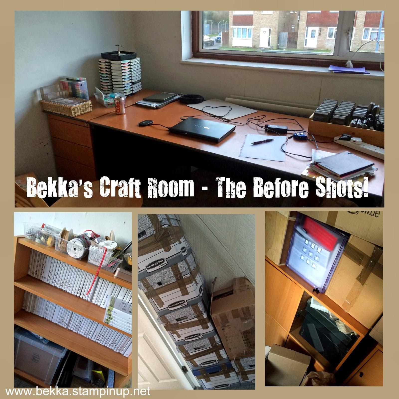 Bekka's Craft Room the Before Shots!