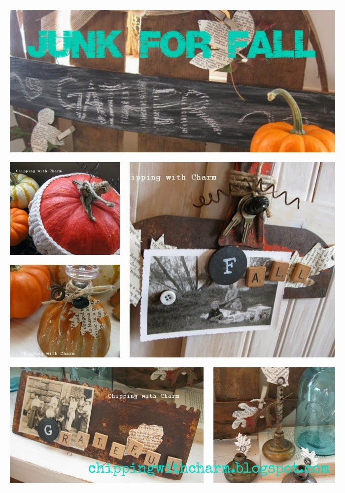 Chipping with Charm: Fall Junk Projects 2013...http://chippingwithcharm.blogspot.com/