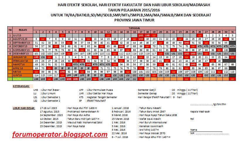Download Kalender Pendidikan Tahun Pelajaran 2015/2016 Operator