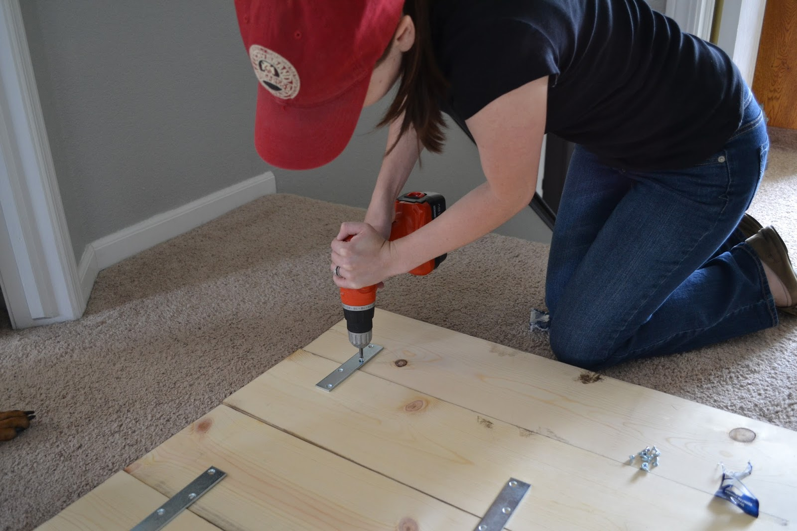 Screw Boards Together for DIY Headboard
