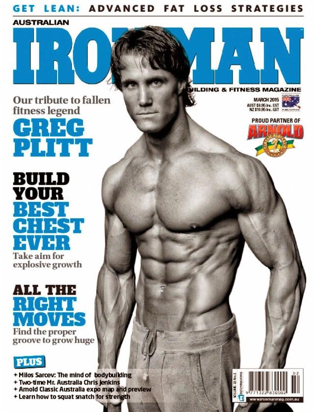 Greg Plitt é capa da edição de março da revista australiana Iron Man. Foto: Jason Ellis