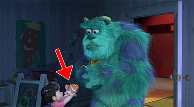 Curiosidades de monster inc 2001 for Monsters inc bathroom scene
