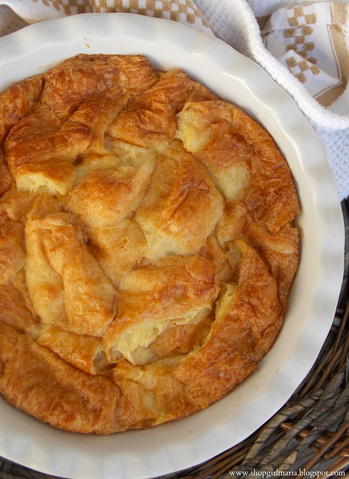 Croissant Bread Pudding | A Homemade Living