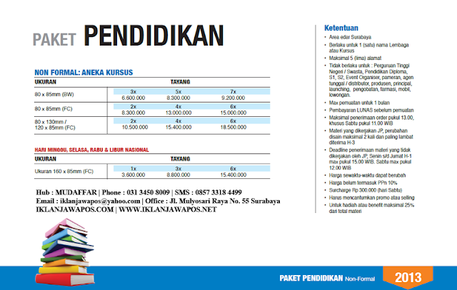 Jawa Pos Iklan Paket Pendidikan 2013