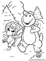 Barney Naik Ke Puncak Gunung
