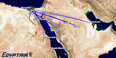 Egyptair Saudi Arabia planned expansion