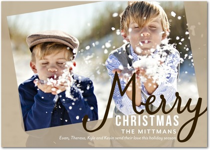 Merry Miracle Emerald Christmas Card
