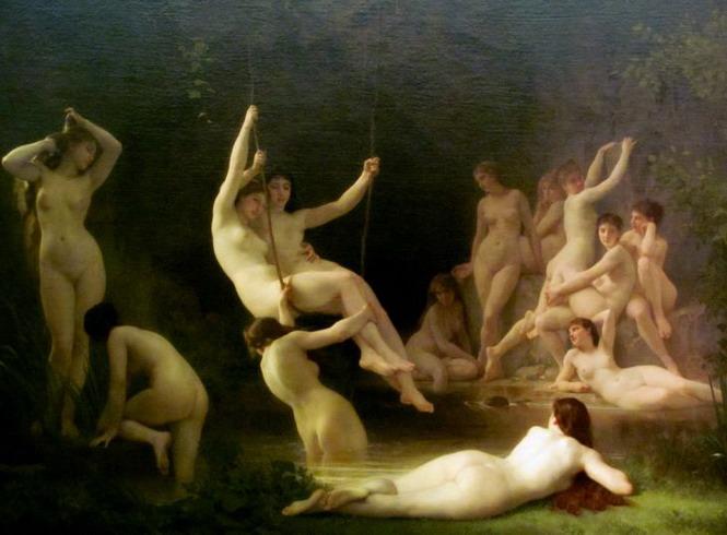 The Nymphaeum. 1878. Óleo sobre tela