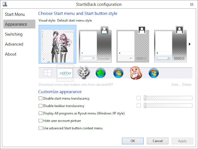Theme Windows 8.1 and 10 Gakusen Toshi Asterisk By Bashkara