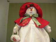 Day After Christmas Shopping Snowwoman