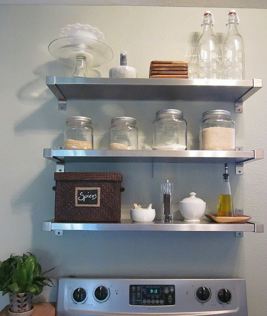 IKEA Kitchen Shelves Stainless Steel
