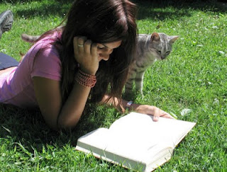 NAMC montessori professional development in summer months teacher and cat reading