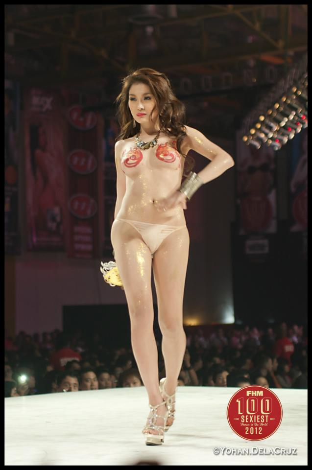 nude bianca peralta at fhm victory party 2012