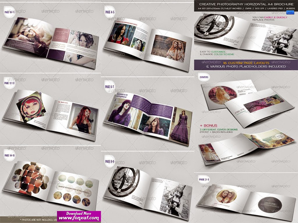 brochures and magazines INDD/PSD تصميم مجلة 16 صفحة