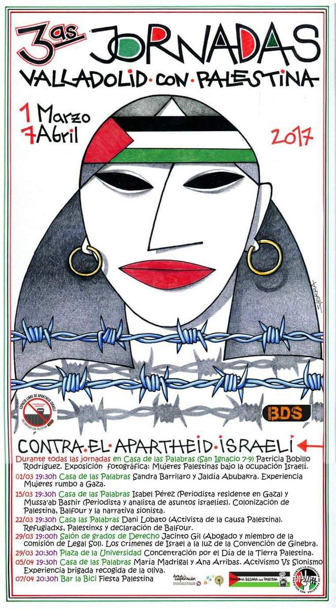 Del 1 de marzo al 7 de abril: III Jornadas Valladolid con Palestina