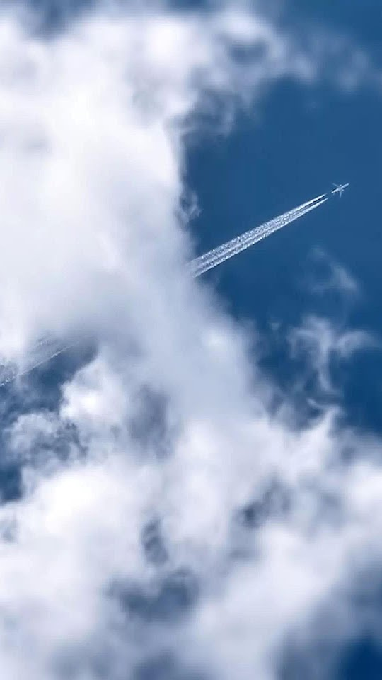 Flying Airplane Smoke Trail Clouds  Galaxy Note HD Wallpaper