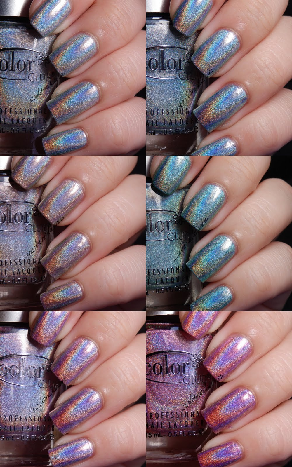 Color Club Holographic Nail Polish Set