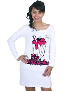 Model Kaos Tshirt Lengan Panjang Terbaru Wanita Pria