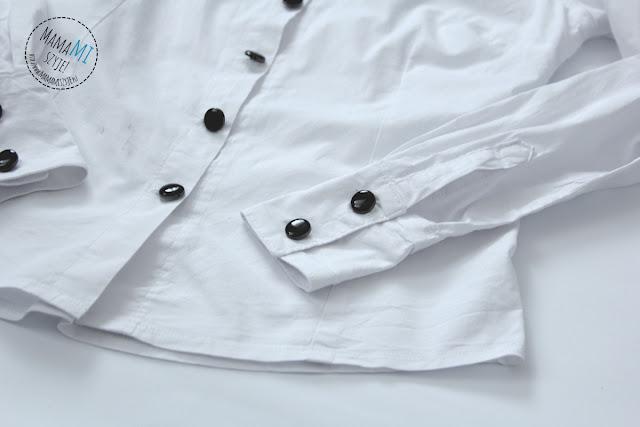 szycie damskiej koszuli, na guziki, zapięcie, z kołnierzykiem, jak uszyć koszulę