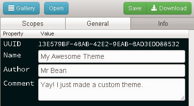 Save Sublime Text theme name