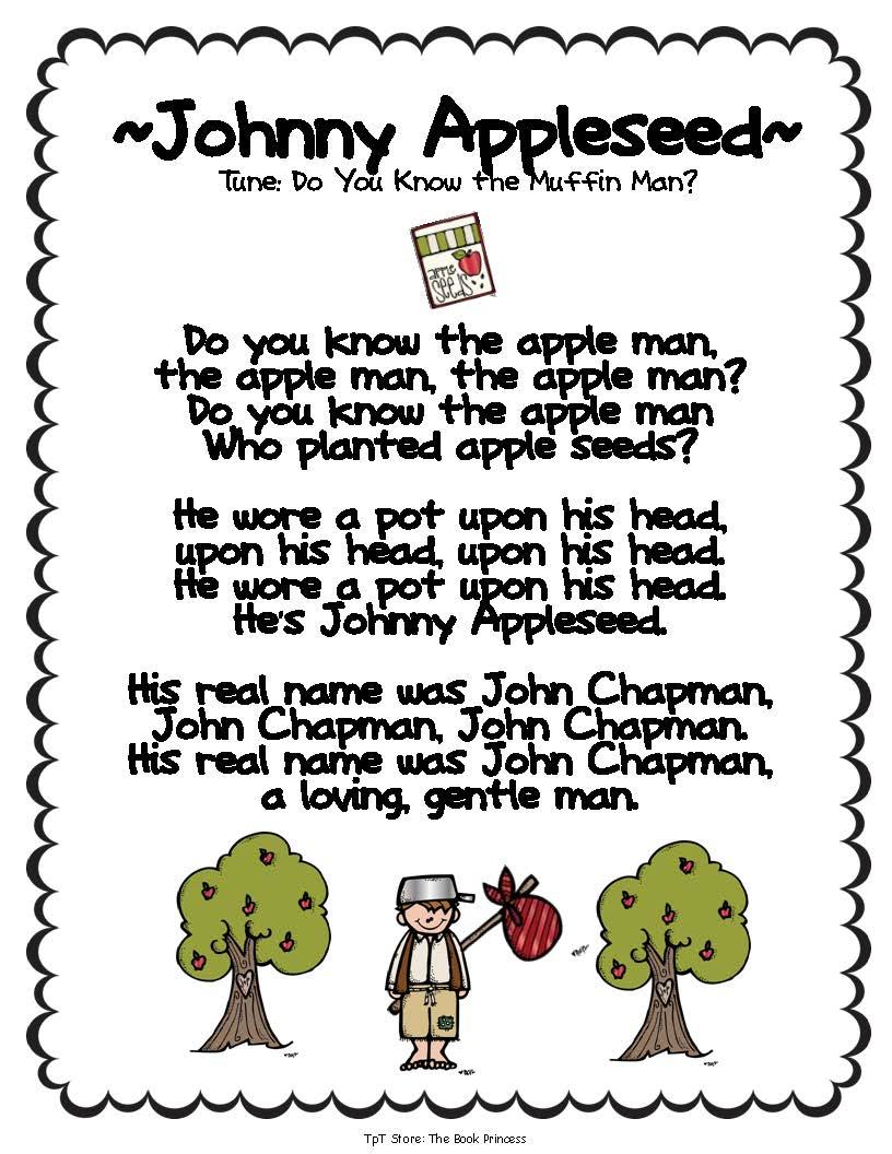 Free Worksheet Johnny Appleseed Worksheets free johnny appleseed worksheets abitlikethis poem kindergarten